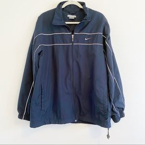 Men's Nike Zip Front Navy Windbreaker Size L